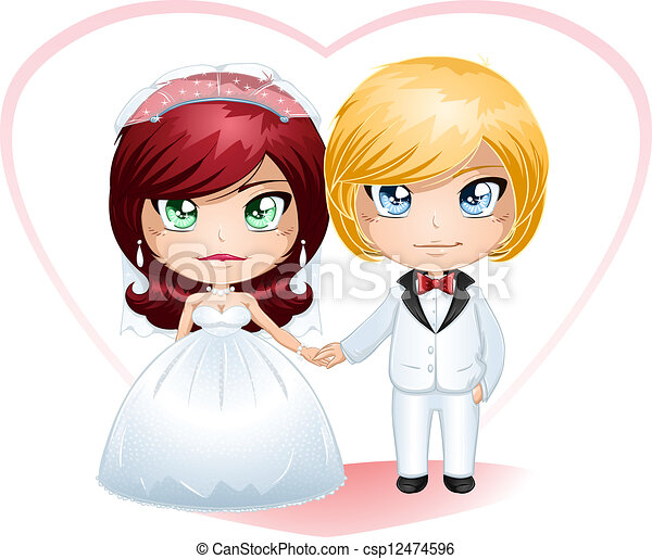 Bride And Groom Getting Married 4 - csp12474596