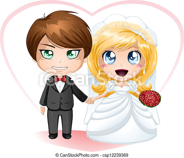 Bride and Groom Getting Married - csp12239369