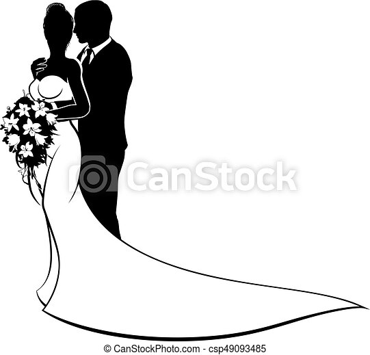 bride and groom husband wife wedding silhouette wedding vector rh canstockphoto com wedding vector free download wedding vector file