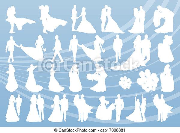 Bride and groom in wedding - csp17008881