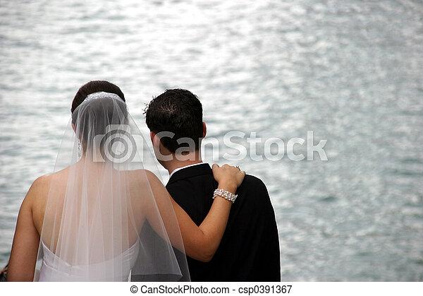 Bride and Groom - csp0391367