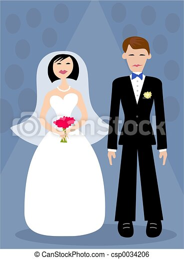 Bride and Groom - csp0034206