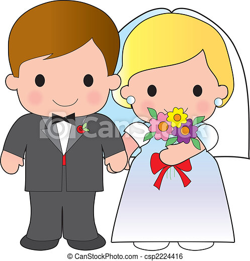 Bride and Groom - csp2224416