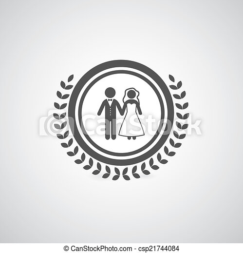 Bride And Groom Symbol On Sign