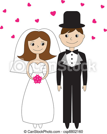 Bride and groom  - csp8802160