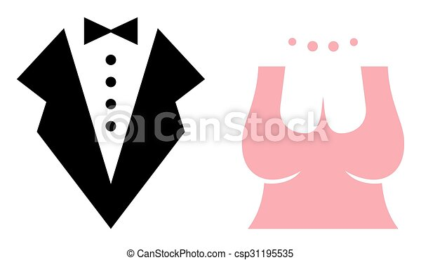 bride and groom vector icons rh canstockphoto com bride and groom vector graphic bride and groom vector graphic