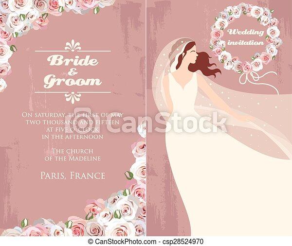 Bride and roses - csp28524970