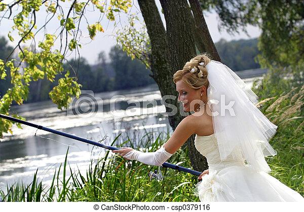 Bride - fisherman - csp0379116