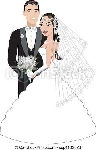 Bride Groom - csp4132023