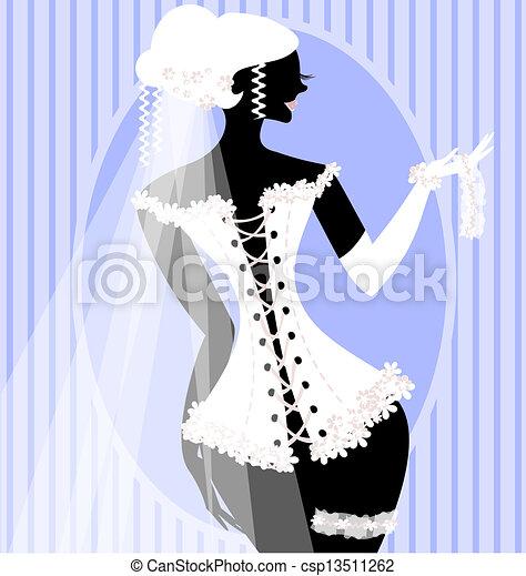 bride in a corset - csp13511262