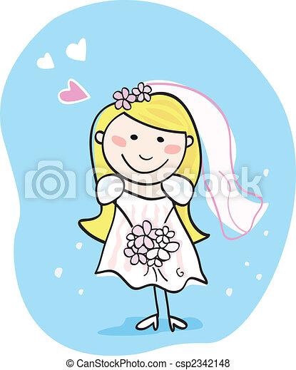 Bride in white - csp2342148