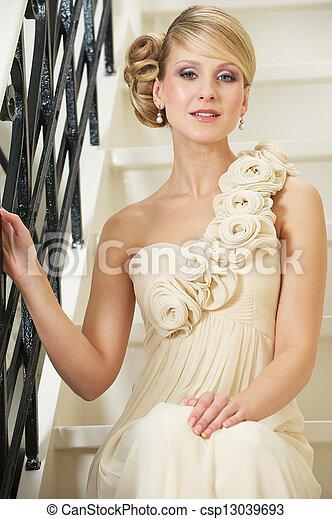 Bride in White Wedding Dress - csp13039693