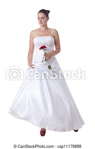 Bride with red shoes - csp11176888
