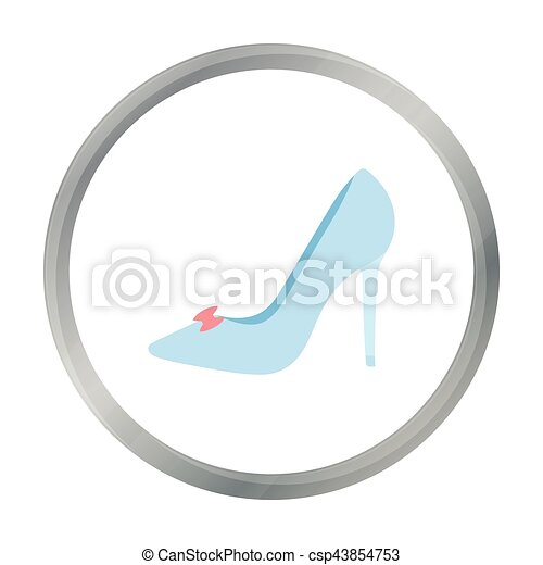 Bride's shoes icon of vector illustration for web and mobile - csp43854753