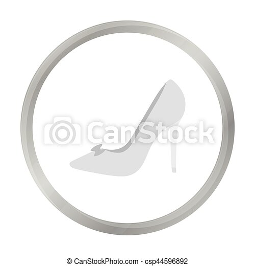 Bride's shoes icon of vector illustration for web and mobile - csp44596892