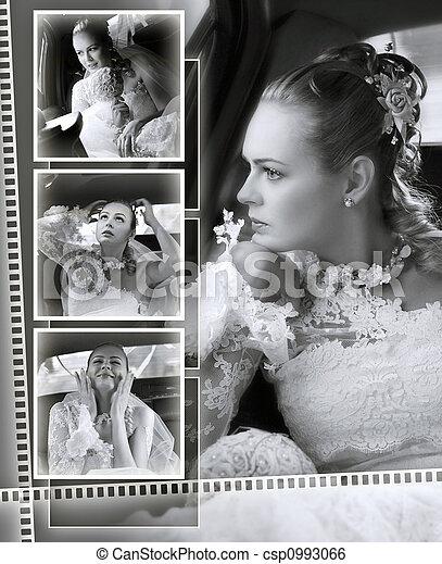 Brides wedding album montage - csp0993066