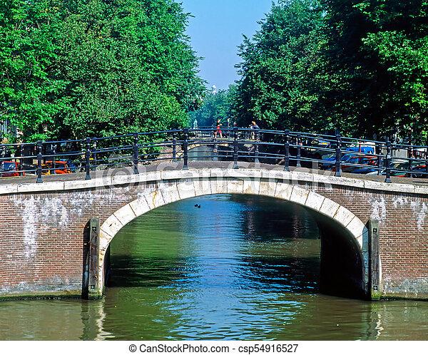 Bridge, Amsterdam - csp54916527