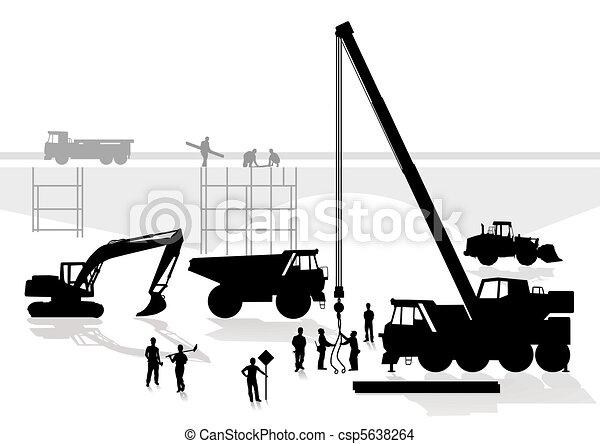 bridge and road construction - csp5638264