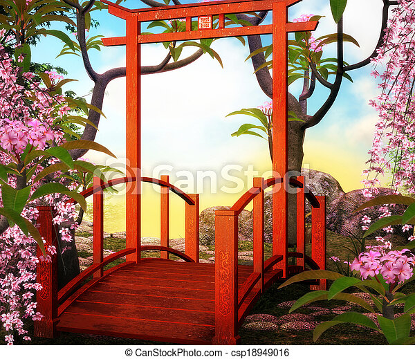 Bridge Asian Backdrop - csp18949016