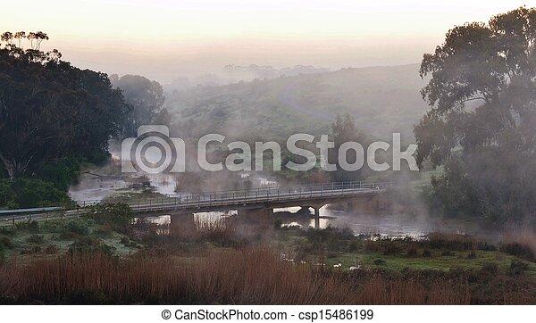 Bridge at dawn - csp15486199