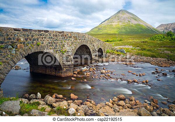 Bridge at Sligachan, Isle of Skye - csp22192515