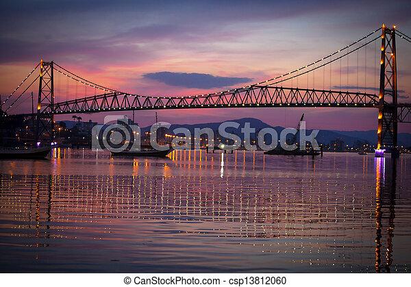 Bridge at Sunset - csp13812060