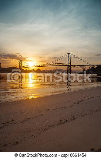 Bridge at Sunset - csp10661454