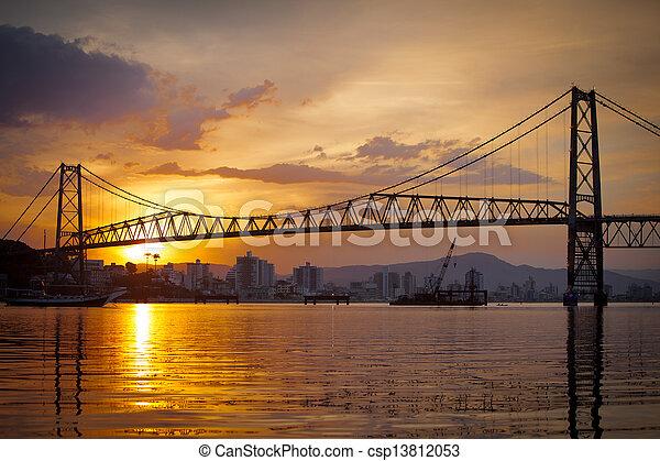 Bridge at Sunset - csp13812053