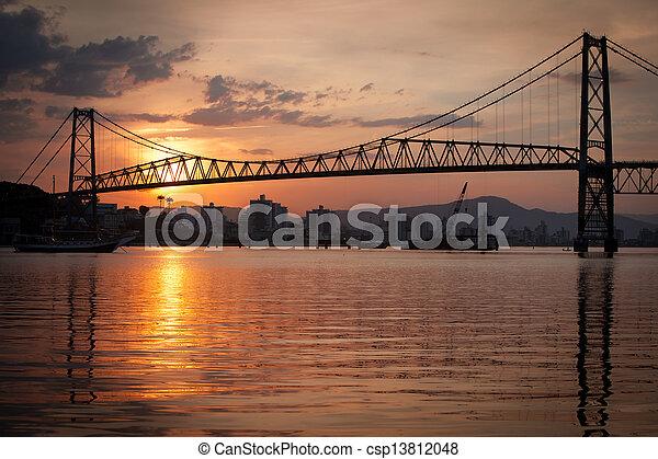 Bridge at Sunset - csp13812048
