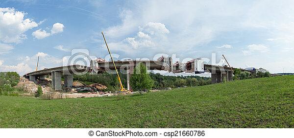 Bridge construction - csp21660786