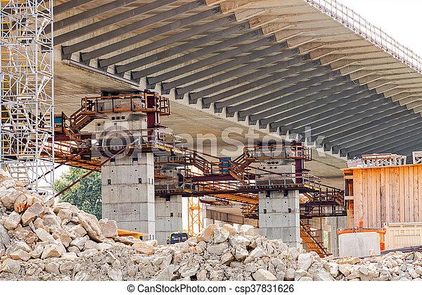 bridge construction - csp37831626