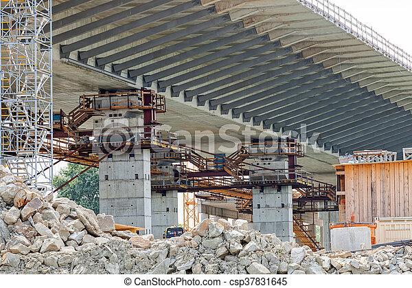 bridge construction - csp37831645