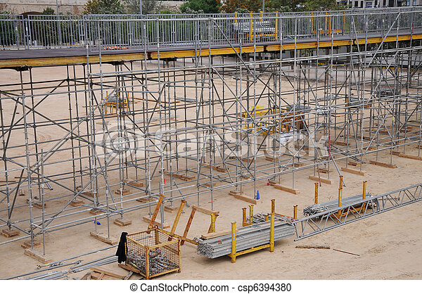 Bridge Construction - csp6394380
