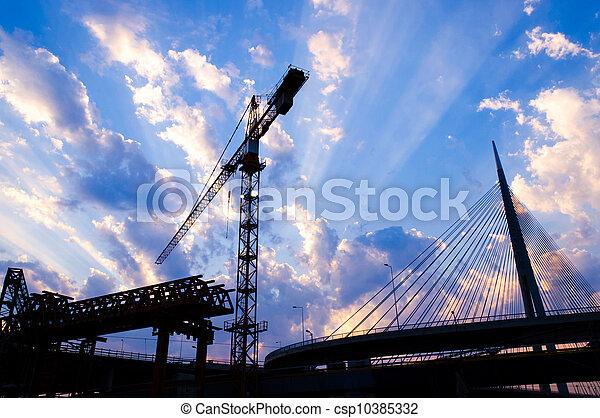 Bridge construction - csp10385332