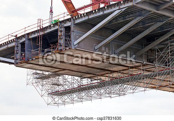 bridge construction - csp37831630