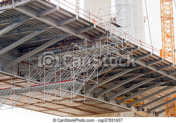 bridge construction - csp37831637