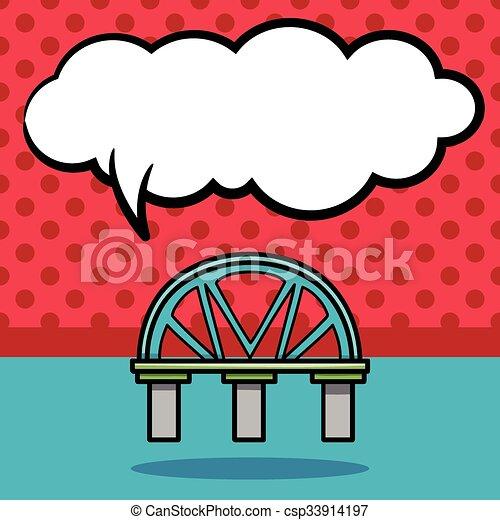 bridge doodle - csp33914197