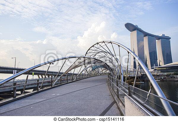 bridge., hélice, singapur - csp15141116