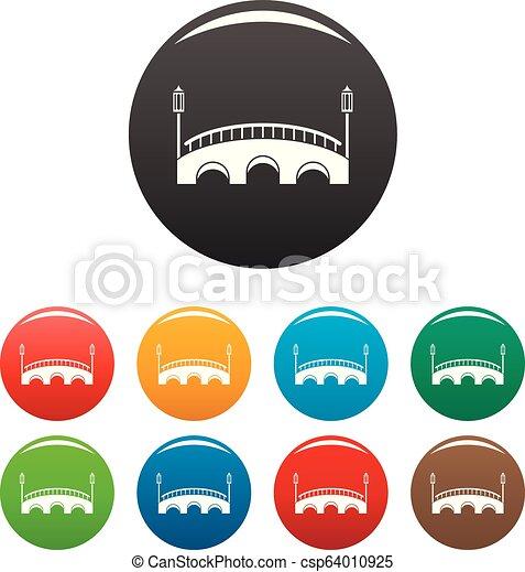 Bridge icons set color - csp64010925