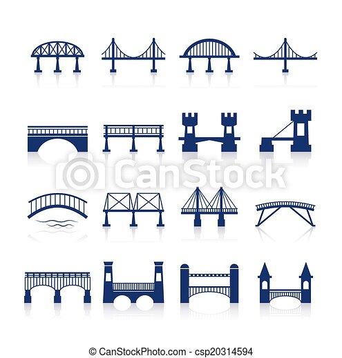 Bridge Icons Set - csp20314594