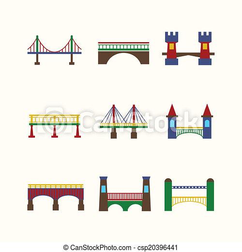 Bridge Icons Set - csp20396441
