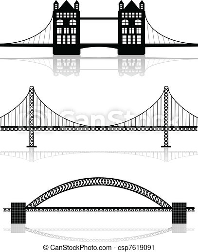 bridge illustrations - csp7619091