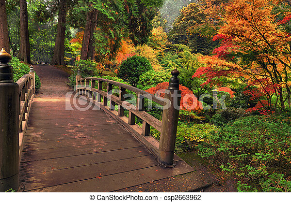 Bridge in autumn - csp2663962