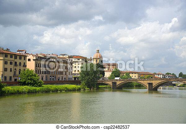 Bridge in Florence, Italy. - csp22482537