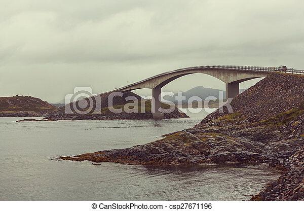 Bridge in Norway - csp27671196