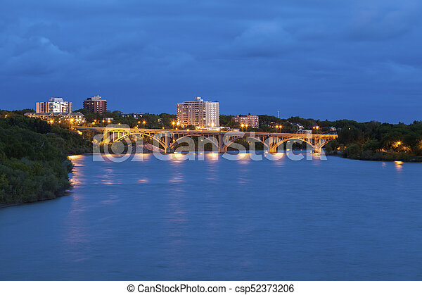 Bridge in Saskatoon - csp52373206