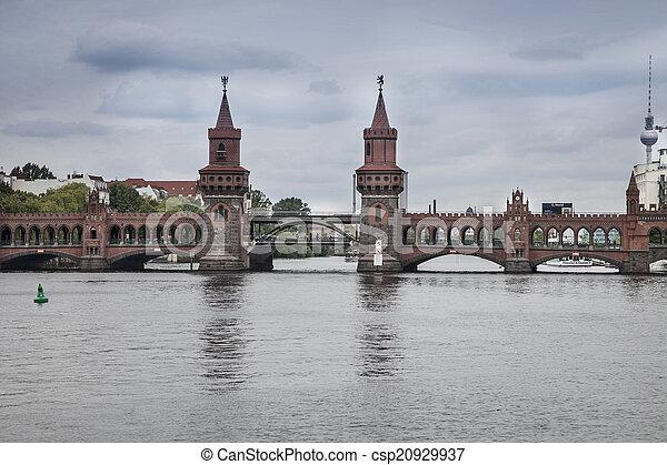 bridge in the center of berlin - csp20929937