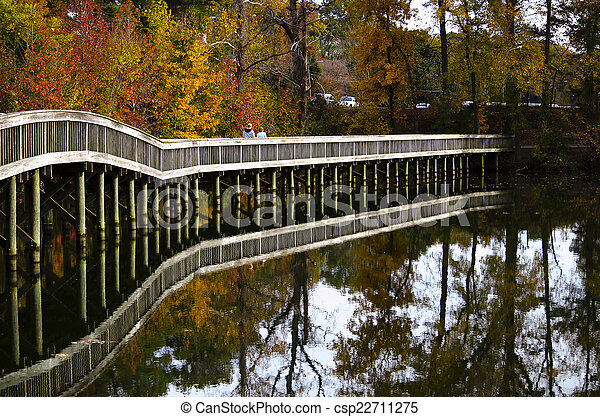 Bridge in the park - csp22711275