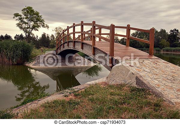 Bridge in the park - csp71934073