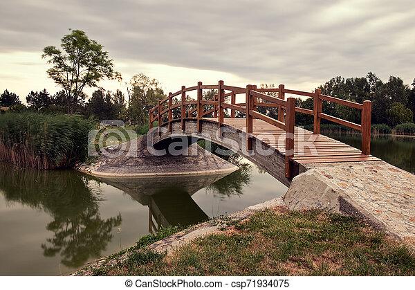 Bridge in the park - csp71934075
